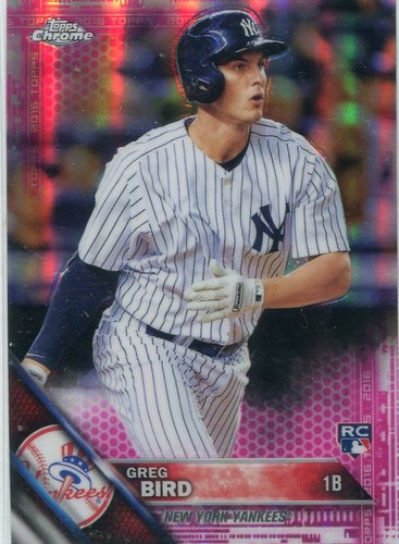 Photo of 2016 Topps Chrome Pink Refractors #128 Greg Bird