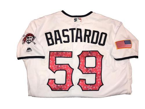 Antonio Bastardo Game-Used Home White Stars and Stripes Jersey