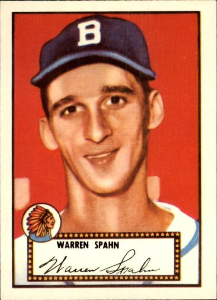 1983 Topps 1952 Reprint #33 Warren Spahn