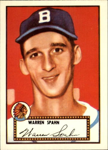 Photo of 1983 Topps 1952 Reprint #33 Warren Spahn