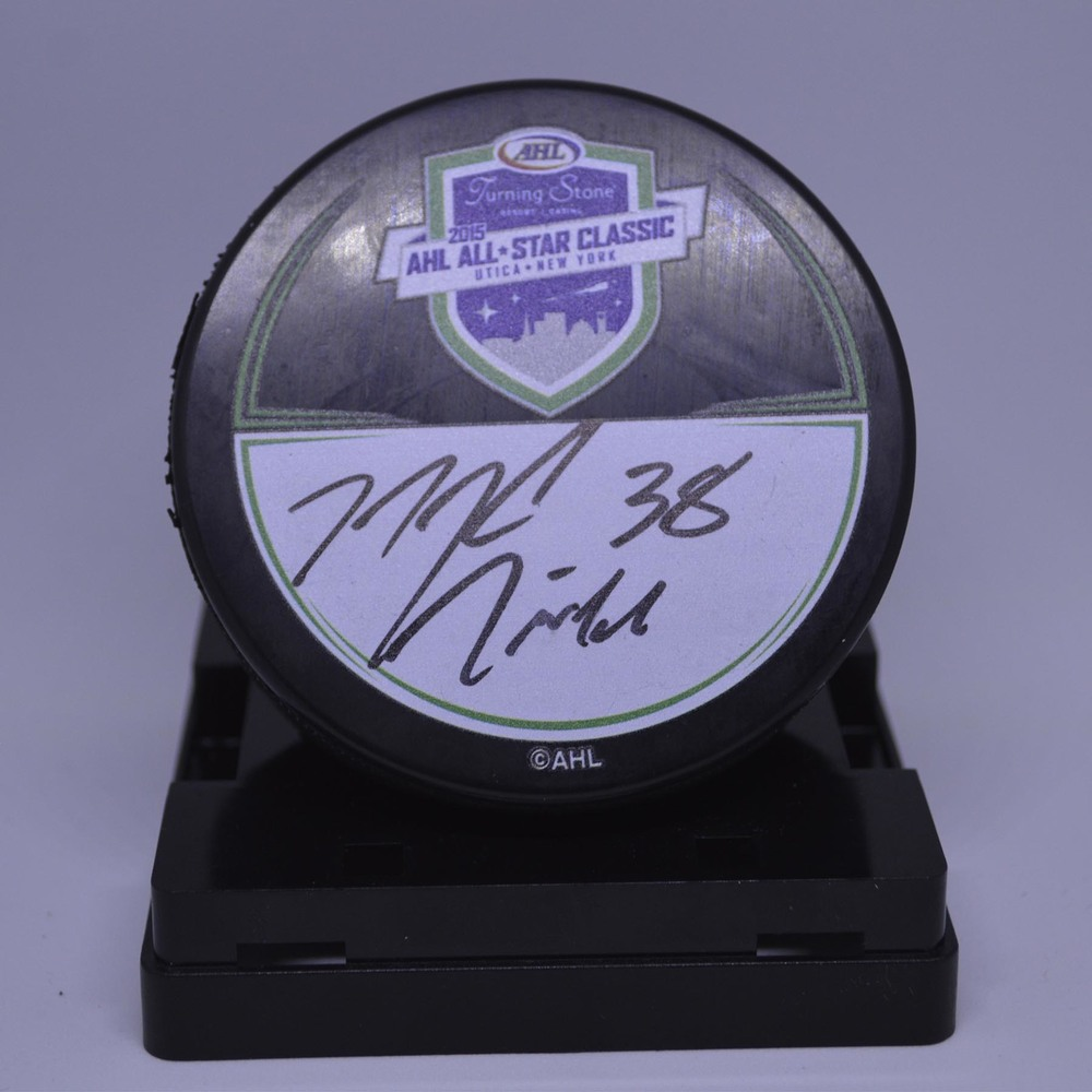 2015 AHL All-Star Classic Souvenir Puck Signed by #28 Mark McNeill
