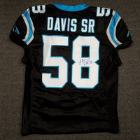 PANTHERS - THOMAS DAVIS SIGNED AUTHENTIC PANTHERS JERSEY - SIZE 50