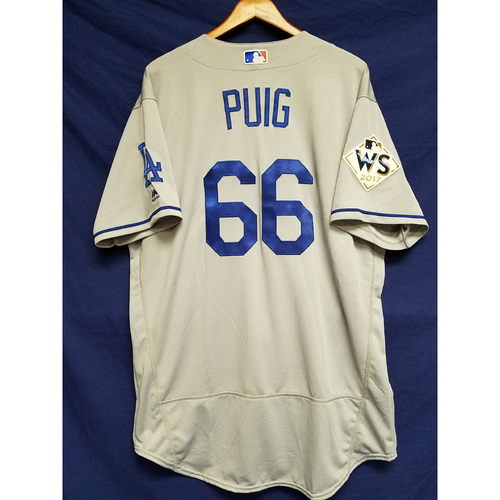 Photo of Yasiel Puig 2017 Road World Series Team-Issued Jersey