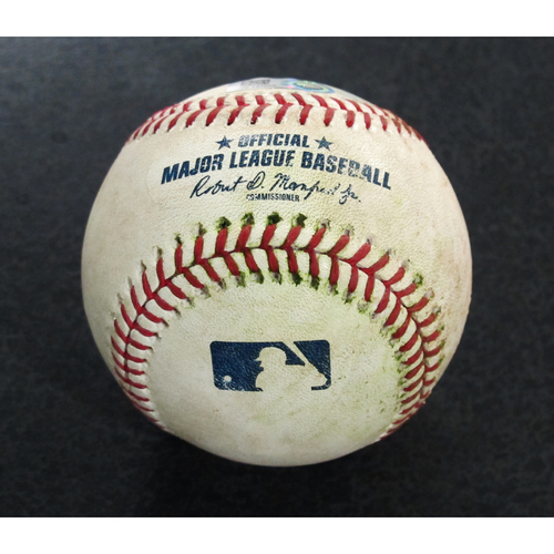 Photo of Game Used Baseball: Pitcher - Blake Parker, Batter - Jean Segura (Double) - 6-13-18