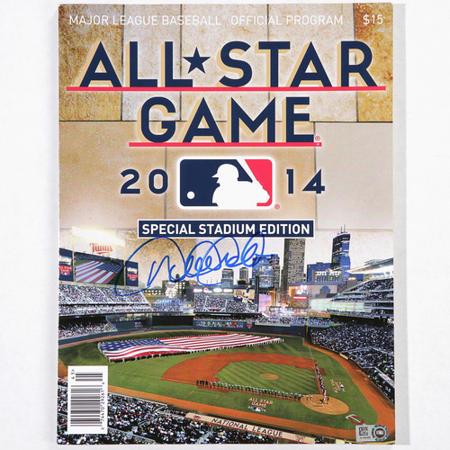 Photo of Derek Jeter Autographed 2014 All-Star Game Program