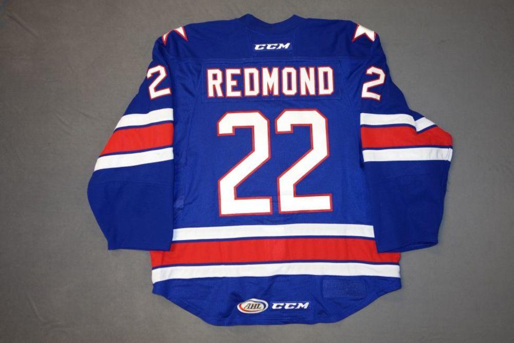 Zach Redmond Game-Worn Rochester Americans Blue Jersey