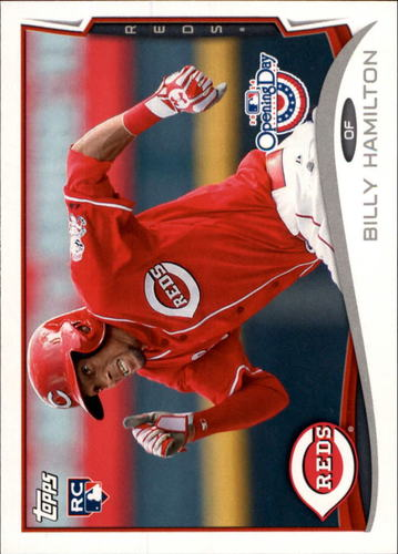 Photo of 2014 Topps Opening Day #170A Billy Hamilton RC/Running