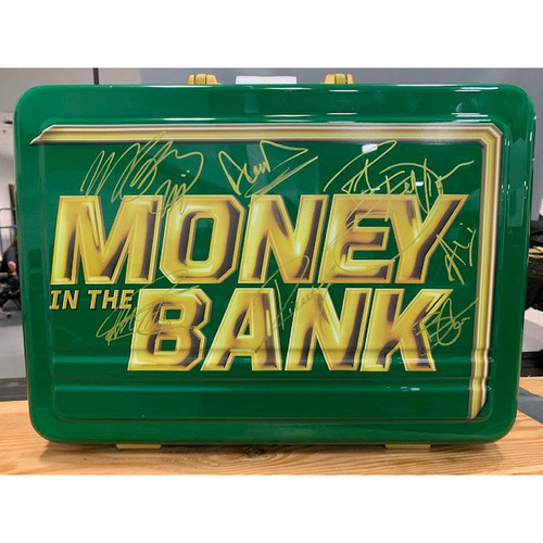 Photo of Autographed WWE Money In The Bank Replica Briefcase (Signed by all 7 original participants)