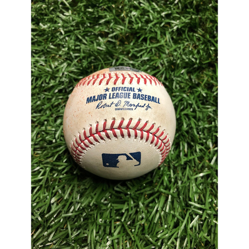 Photo of Game Used Baseball: Gio Urshela Single off Jose Alvarado - July 6, 2019 v NYY