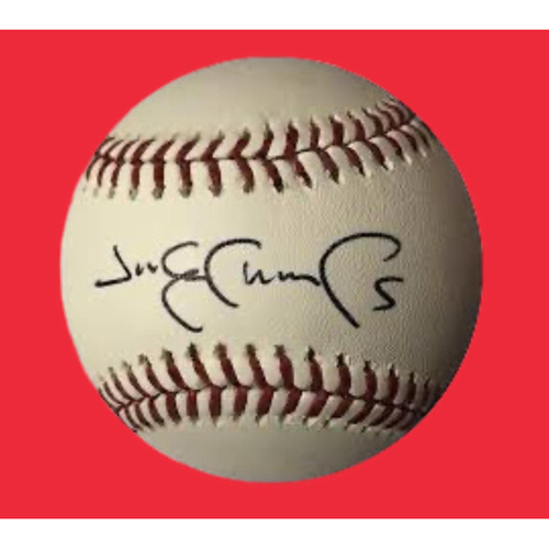 Photo of Jim Edmonds Autographed Baseball