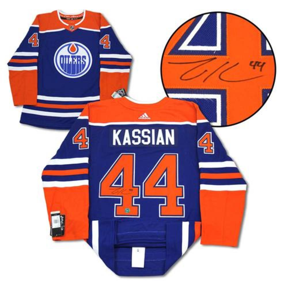 Zack Kassian Edmonton Oilers Autographed Blue Alt Adidas Jersey