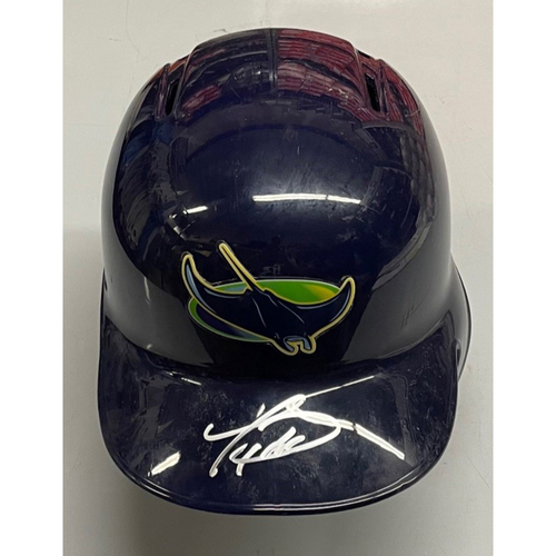 Photo of Rays Baseball Foundation: Team Issued Autographed Devil Rays Helmet - Tommy Pham