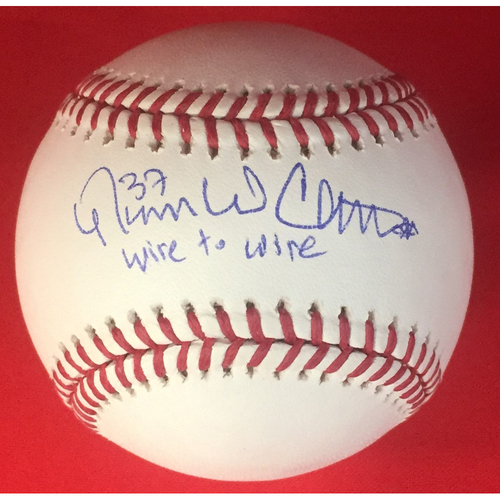 Photo of Nasty Boys Trio of Single Signed Baseballs with Inscriptions