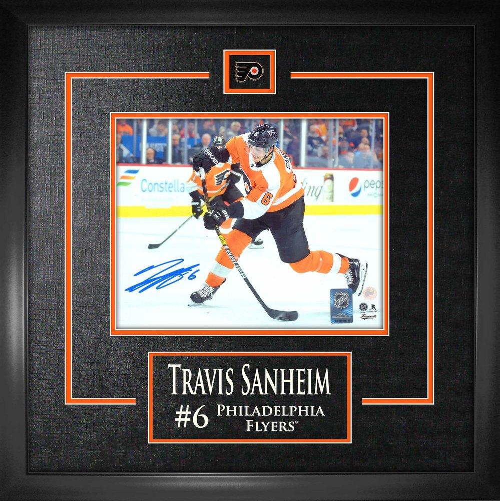 Travis Sanheim Philadelphia Flyers Signed 8x10 Etched Mat Photo