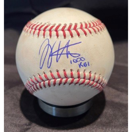 Photo of Joey Votto *Game-Used, Autographed & Inscribed* Baseball from 1,000th Career RBI Game - Vladimir Gutierrez to Victor Caratini (Strikeout) -- 06/30/2021 - SD vs. CIN - Top 2