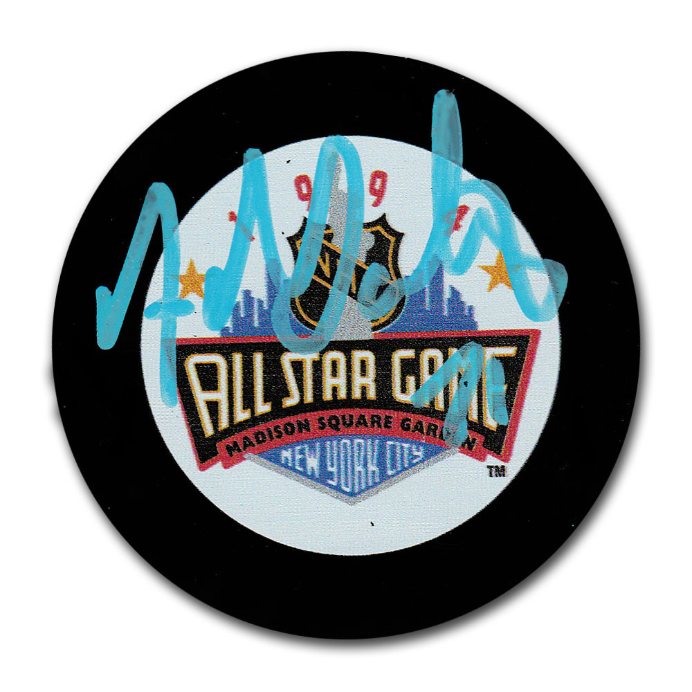Adam Oates Autographed 1994 NHL All-Star Game Puck