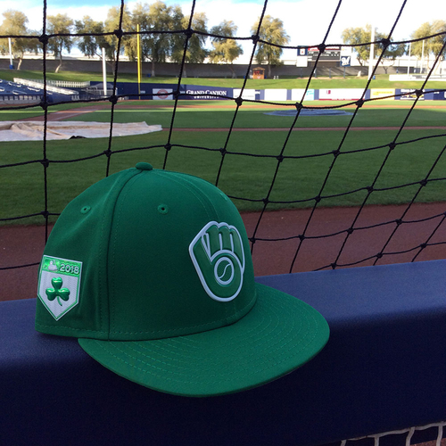 Photo of Jhoulys Chacin 2018 Team-Issued St. Patrick's Day Cap