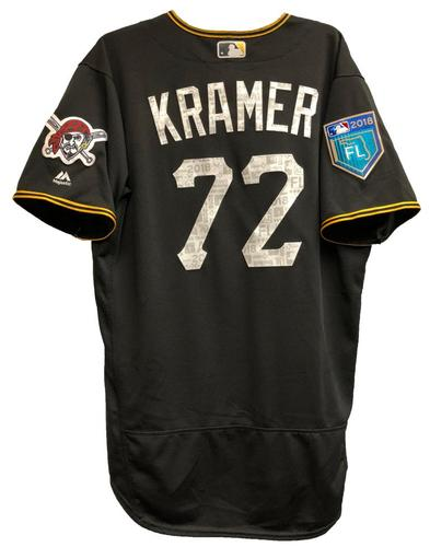 Photo of Kevin Kramer Team-Issued 2018 Spring Training Jersey