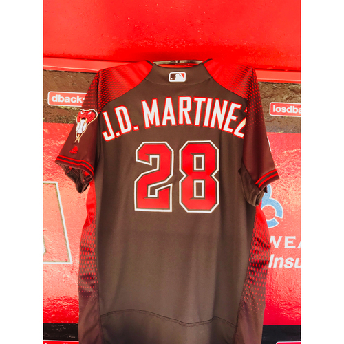 Photo of 2017 Team-Issued J.D. Martinez Jersey