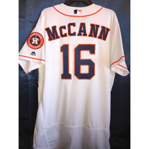 Photo of 2017 Game-Used Brian McCann Home Jersey: Size - 48