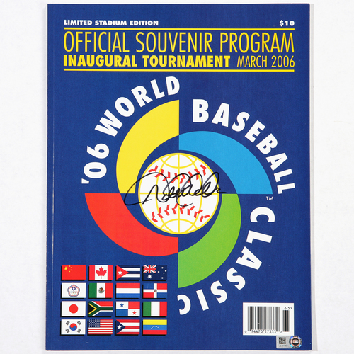 Photo of Derek Jeter Autographed 2006 World Baseball Classic Program
