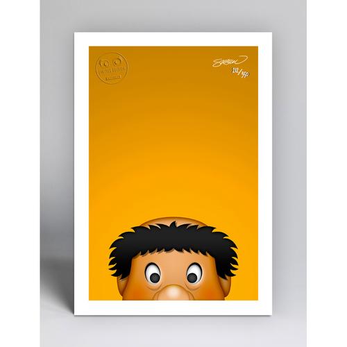 Photo of Swinging Friar - Limited Edition Minimalist Mascot Art Print by S. Preston  - San Diego Padres