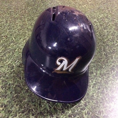 Photo of Ji-Man Choi 2018 Game-Used Opening Day Batting Helmet