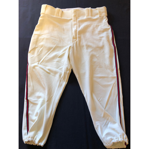 Luis Castillo -- Game-Used 1935 Throwback Pants -- Rangers vs. Reds on June 15, 2019 -- Pants Size 36-41-22