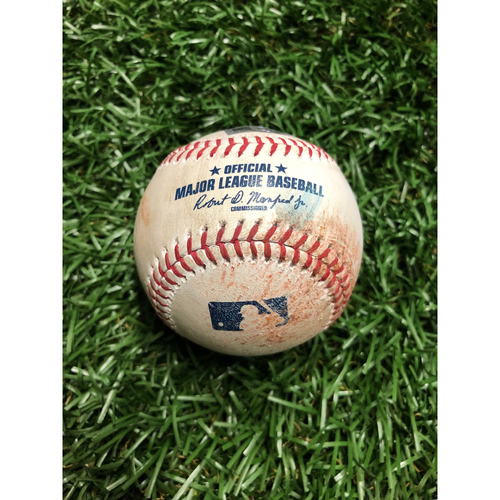 Photo of Game Used Baseball: Aaron Judge foul ball off Charlie Morton - July 7, 2019 v NYY
