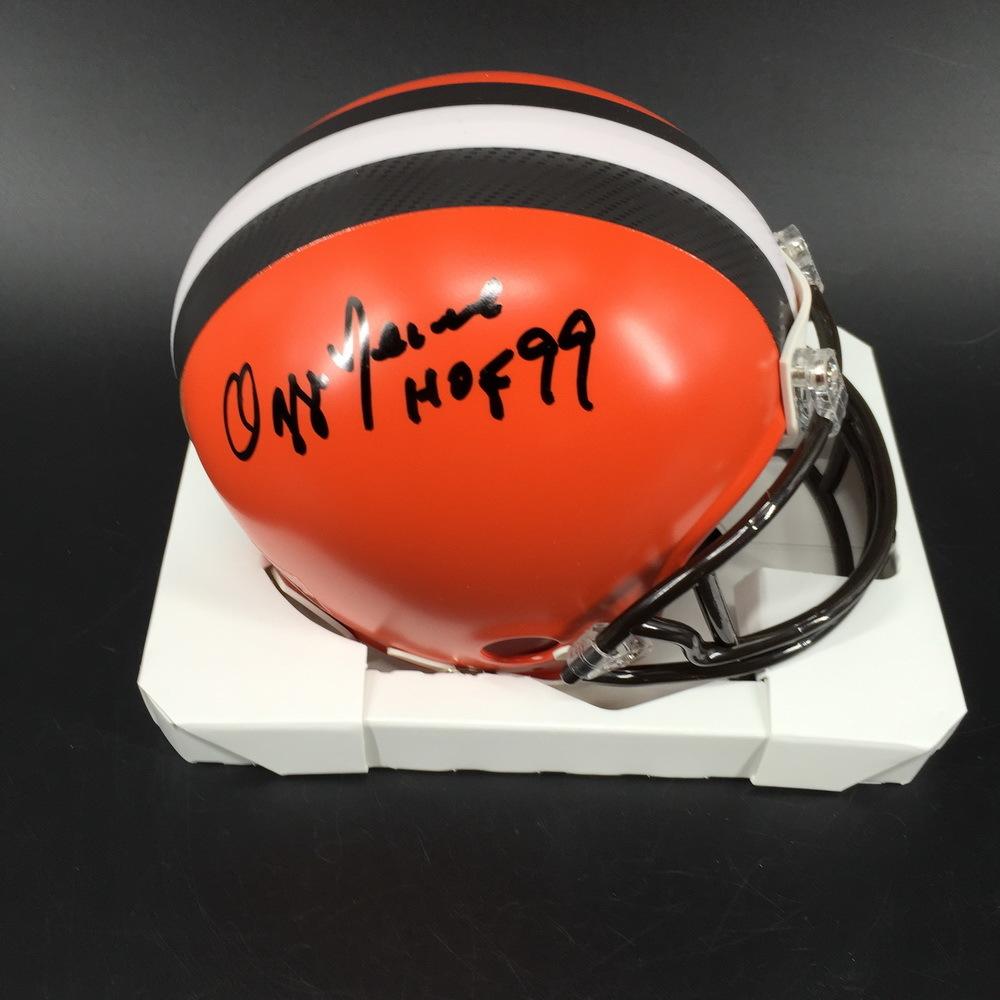 HOF - Browns Ozzie Newsome Signed Mini Helmet