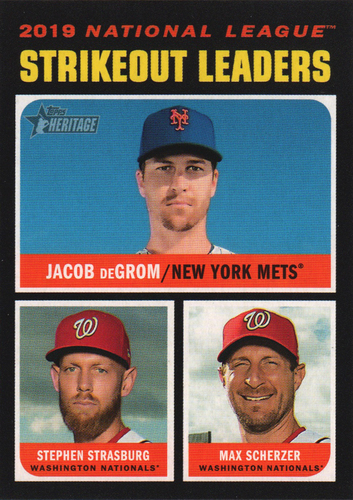 Photo of 2020 Topps Heritage #72 Max Scherzer/Jacob deGrom/Stephen Strasburg LL