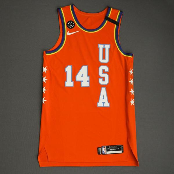 Image of Tyler Herro - 2020 NBA Rising Stars - Team USA - Game-Issued 1st Half Jersey