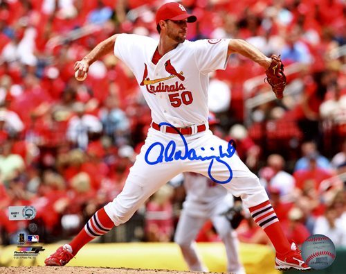 Photo of Adam Wainwright 8x10 Photo (Horizontal Pitching Action)