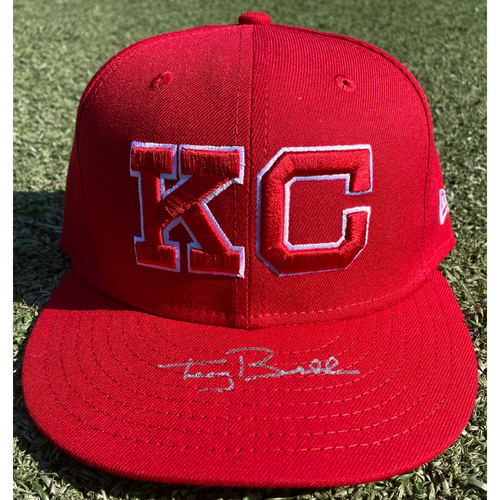 Photo of Game-Used Monarchs Hat: Terry Bradshaw #44 (STL @ KC 9/22/20) - Size 7 1/4