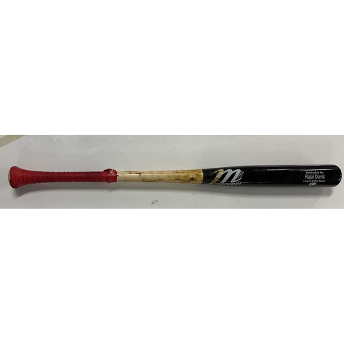 Photo of Game Used Broken Bat - Jose Ramirez (Rajai Davis on Bat) - 8/31