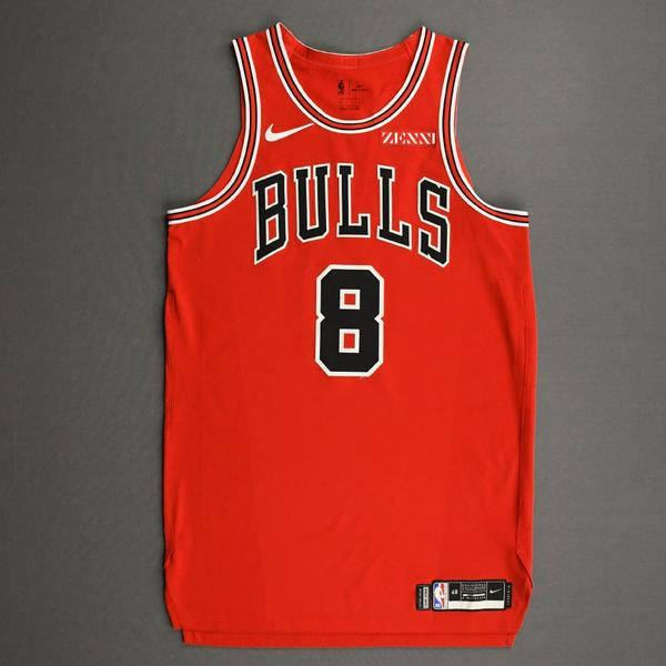 Image of Zach LaVine - Chicago Bulls - Kia NBA Tip-Off 2020 - Game-Worn Icon Edition Jersey - Scored Team-High 22 Points