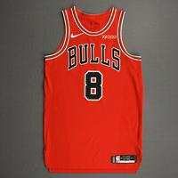 Zach LaVine - Chicago Bulls - Kia NBA Tip-Off 2020 - Game-Worn Icon Edition Jersey - Scored Team-High 22 Points
