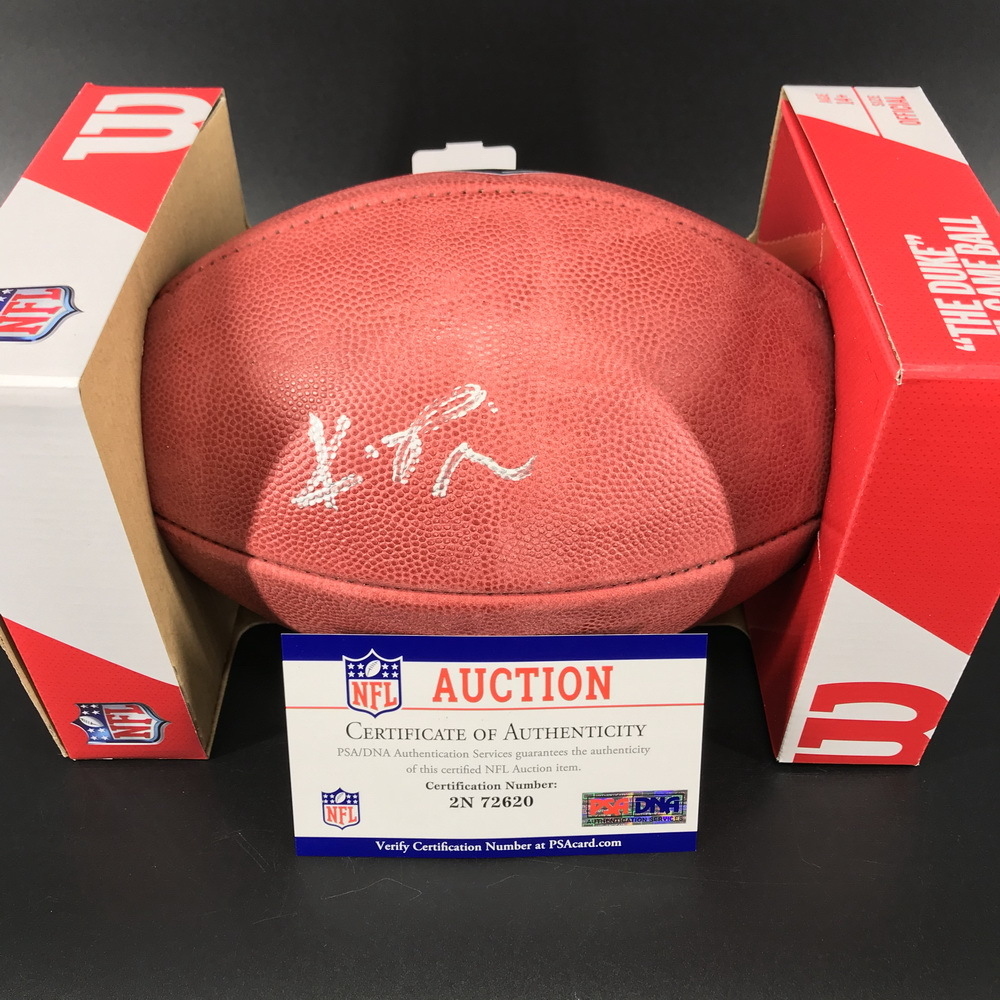 NFL - Falcons Kyle Pitts Signed Authentic Football with 2021 Draft Logo
