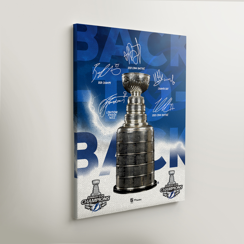 Tampa Bay Lightning 2021 Stanley Cup Champions Framed Autographed 16