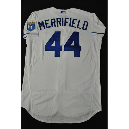 Photo of Hank Aaron Chasing the Dream Foundation: Whit Merrifield 2021 MLB All-Star Workout Day BP-Worn # 44 Jersey