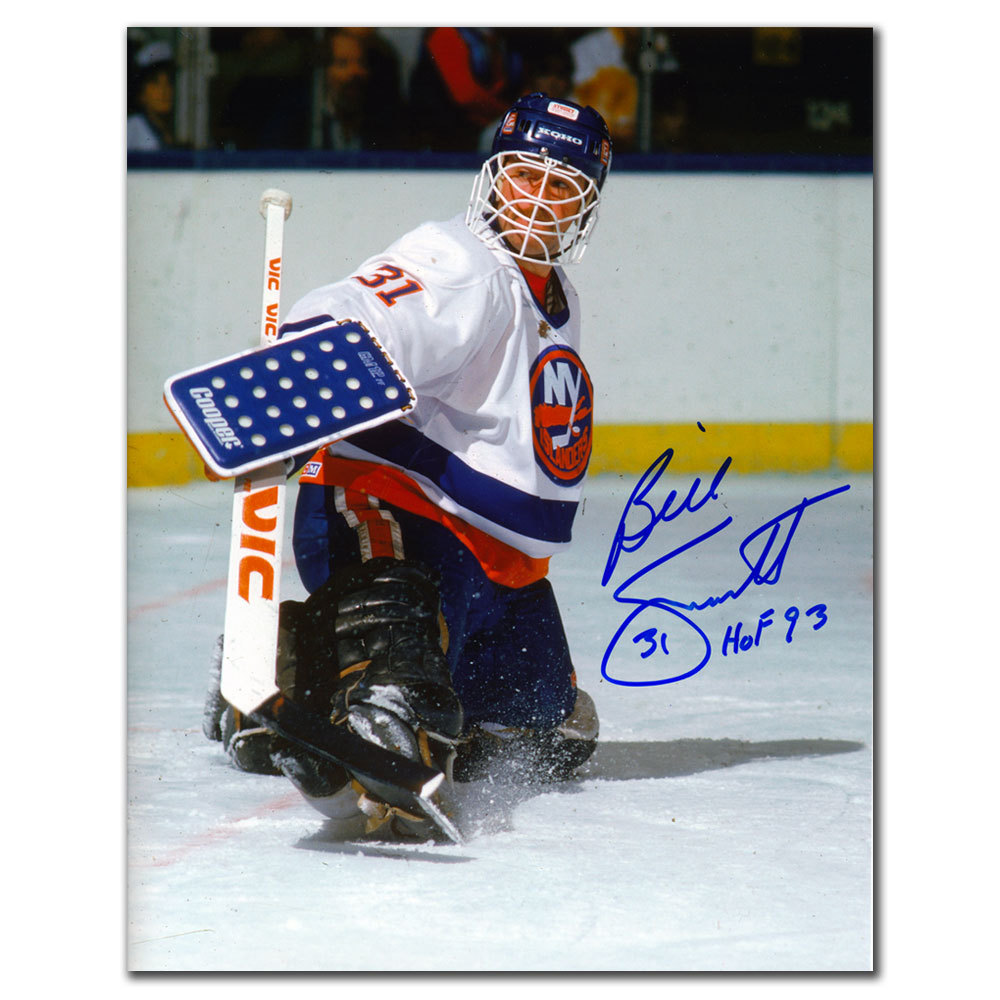 Billy Smith New York Islanders BLOCKER SAVE Autographed 8x10