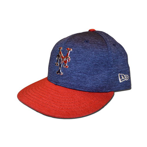 Photo of Glenn Sherlock #53 - Game Used 4th of July Hat - Mets vs. Nationals - 7/4/17