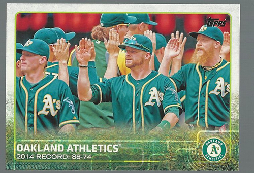 Photo of 2015 Topps #33 Oakland Athletics