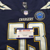 STS - Chargers Mike Pouncey Game Used Jersey Size 46 (11/18/18) w/ Alex Spanos Memorial Patch