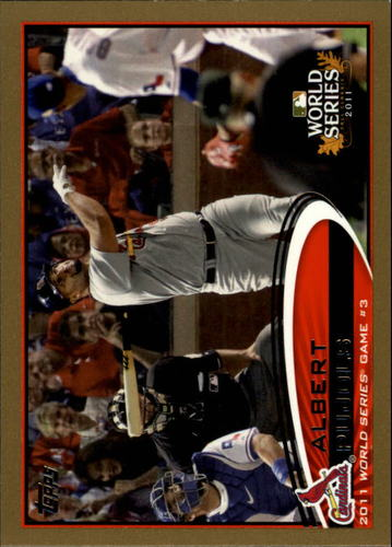 Photo of 2012 Topps Gold #108 Albert Pujols WS HL
