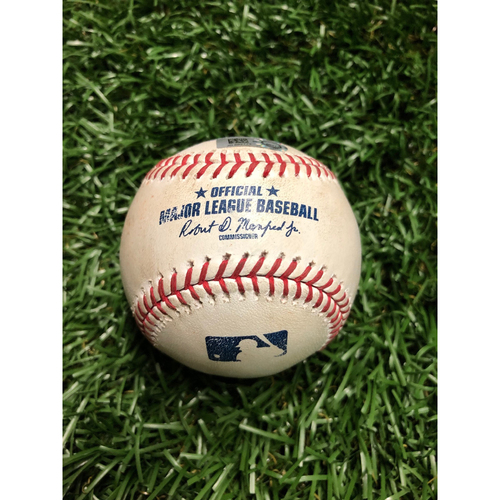 Photo of Game Used Baseball: Yandy Diaz Double off James Paxton - July 7, 2019 v NYY