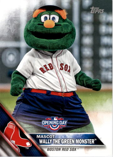 Photo of 2016 Topps Opening Day Mascots #M4 Wally the Green Monster