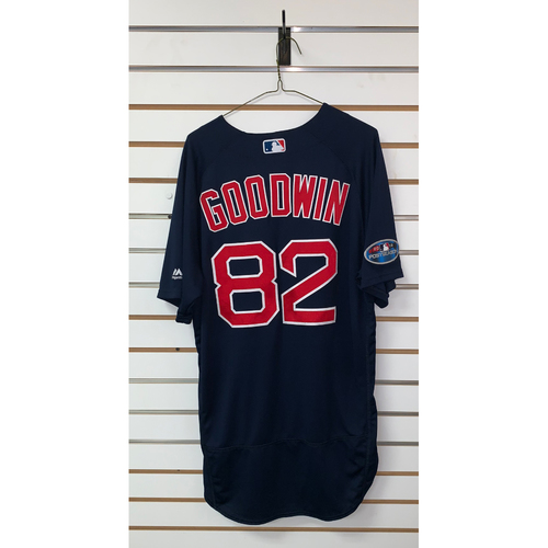 Photo of Tom Goodwin Game Used September 21, 2018 Road Alternate Jersey