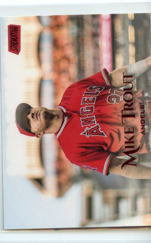 Photo of 2019 Stadium Club Red Foil #60 Mike Trout