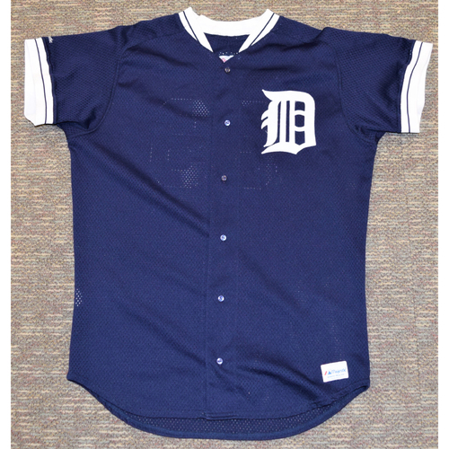 Photo of Detroit Tigers Blue Batting Practice Jersey #39 (NOT MLB AUTHENTICATED)